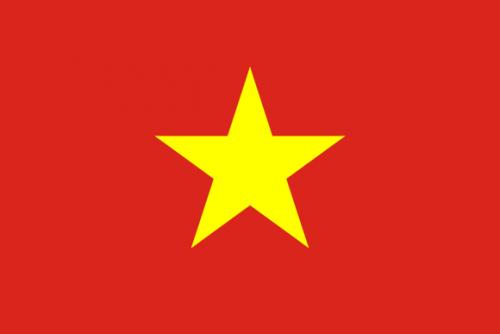 vietnam sitt flagg, rødt med gul stjerne