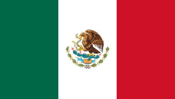 Viser Mexico sitt flagg