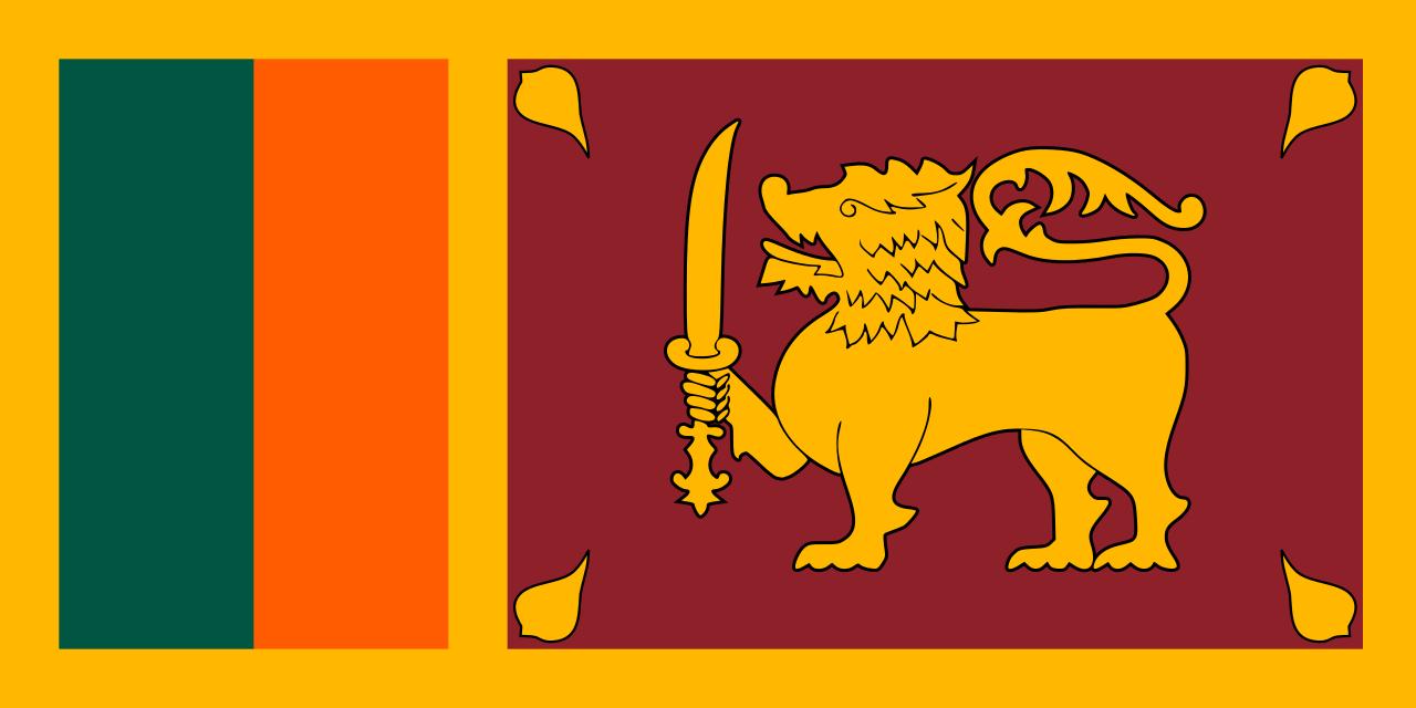 Viser flagget til Sri Lanka