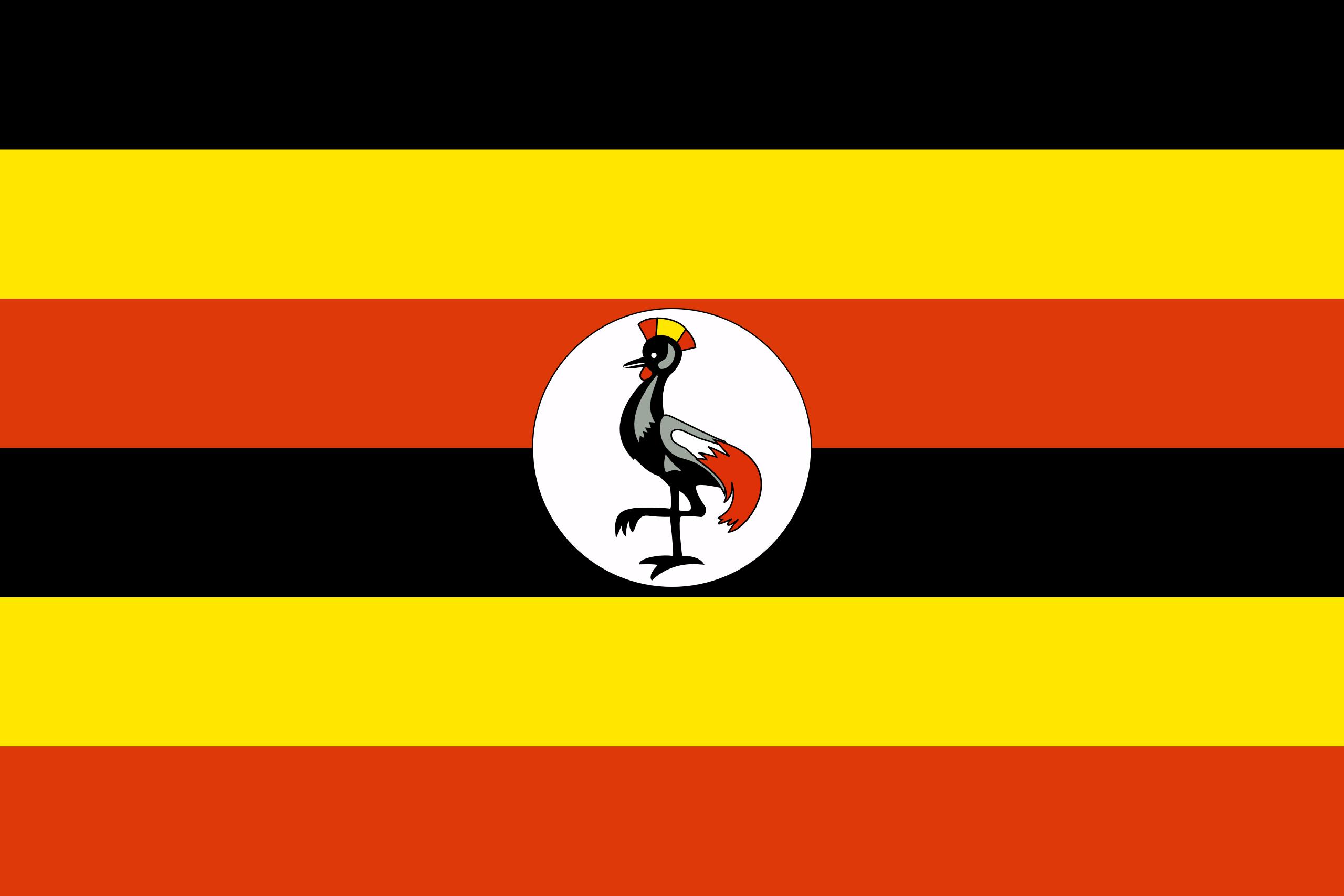 Viser flagget til Uganda