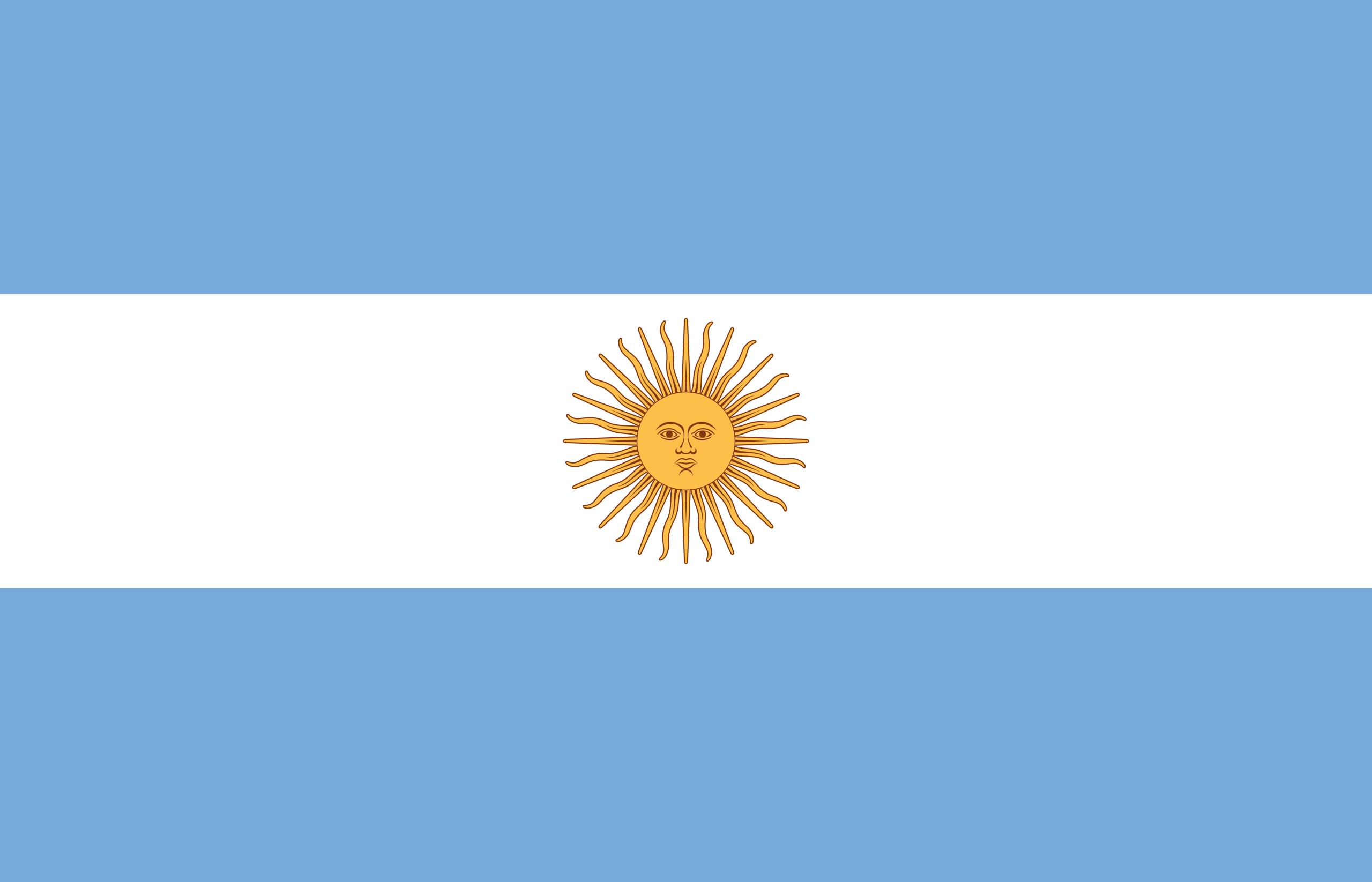 Viser flagget til Argentina
