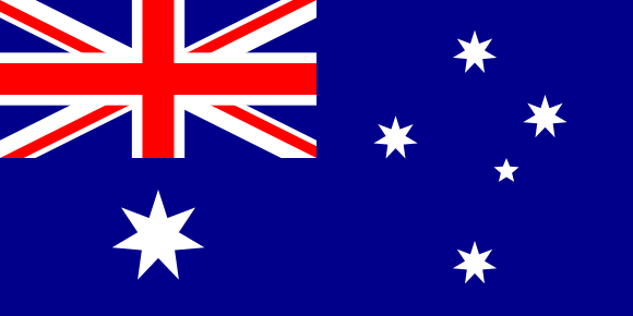 Viser Australia sitt flagg