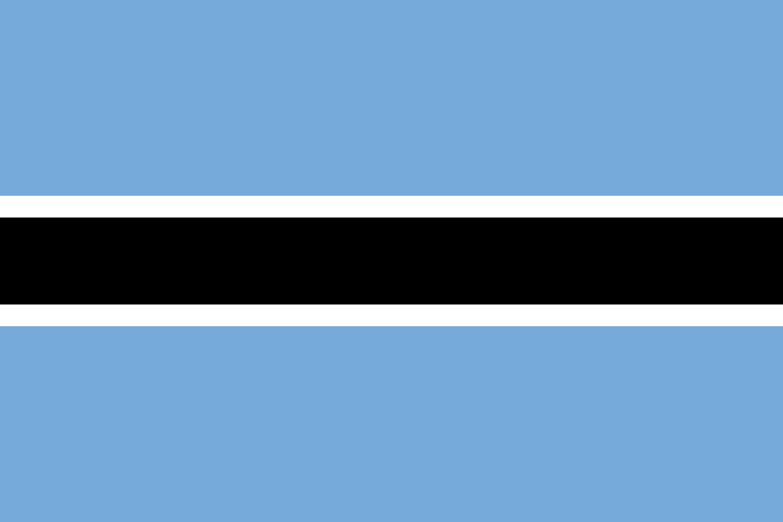 Viser flagg til Botswana