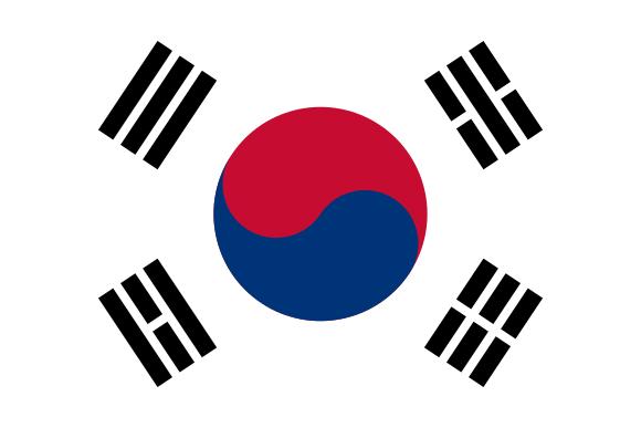 Viser Sør Korea sitt flagg