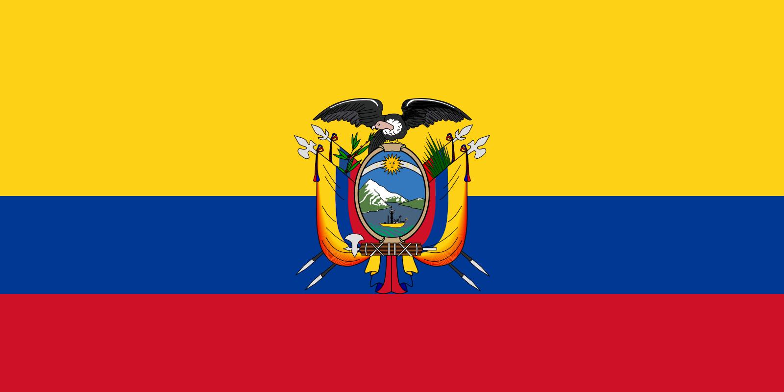 Viser flagg til Ecuador