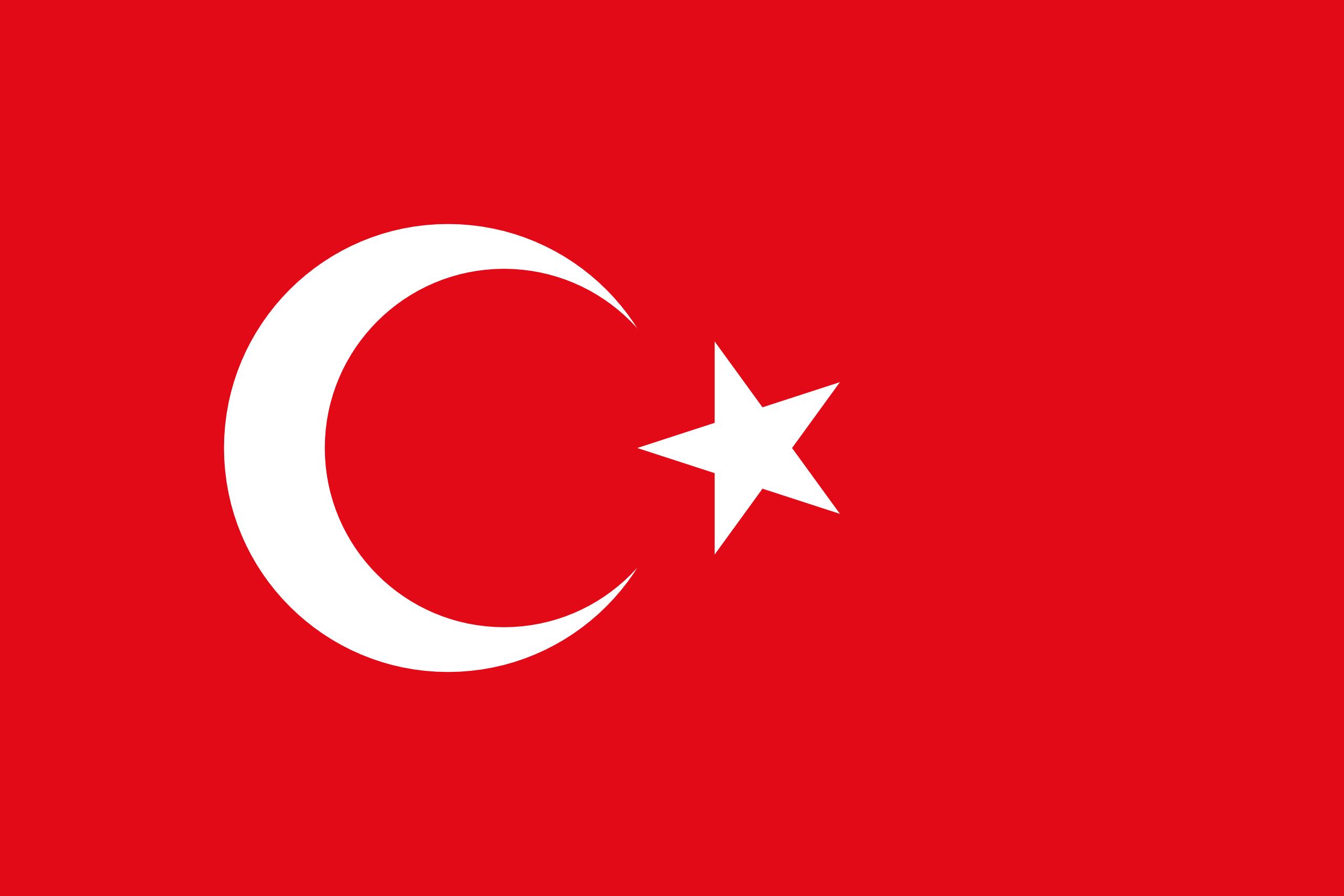 Viser flagg til Tyrkia