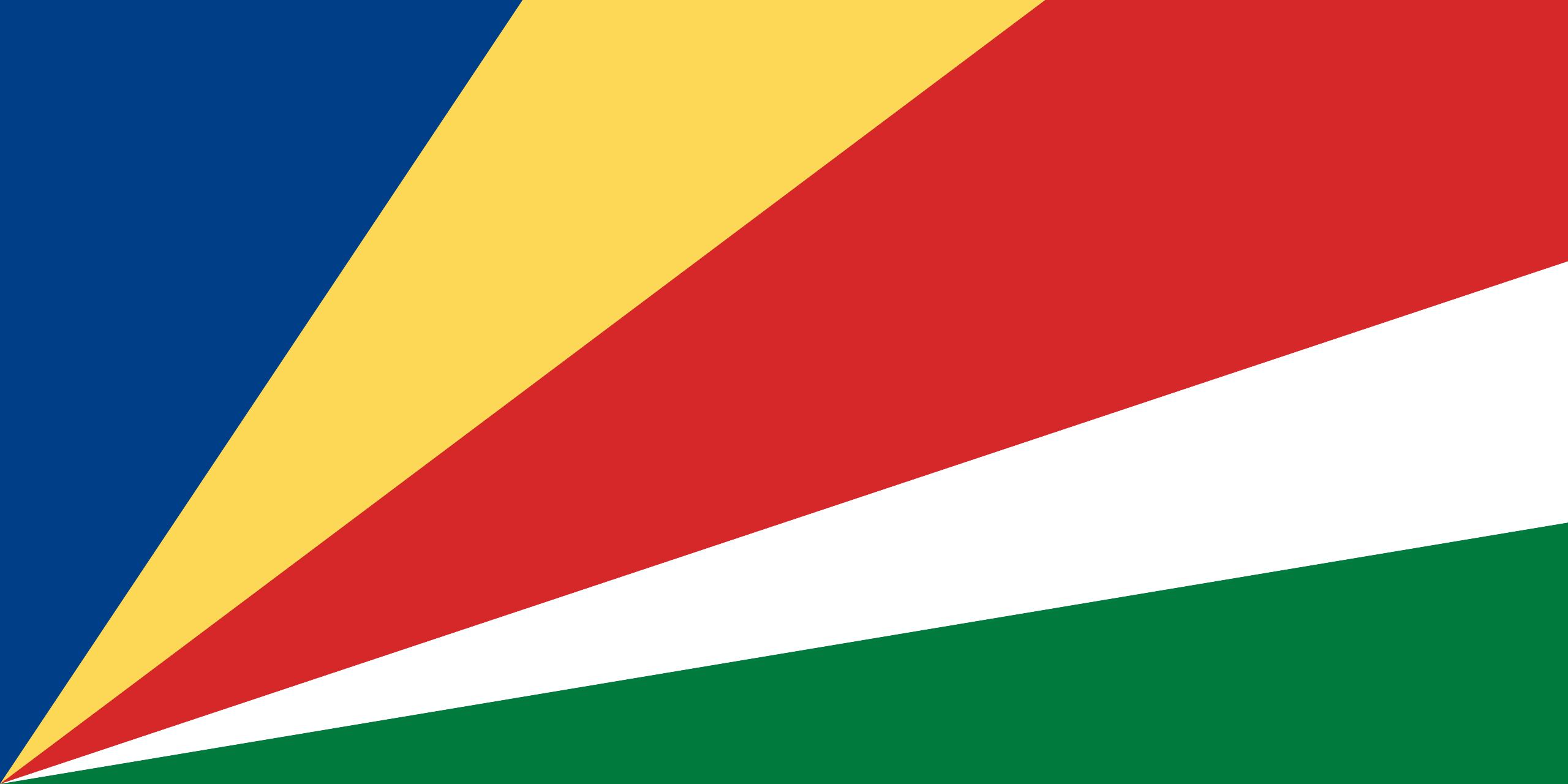 Viser Flagg Til Seychellene